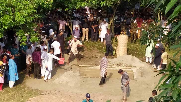 Ershad laid to rest at 'Palli Nibash'