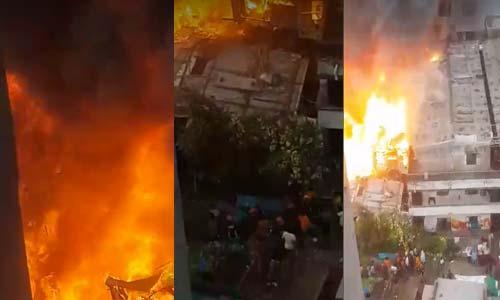 Massive fire at Mohammad Bihari Patty