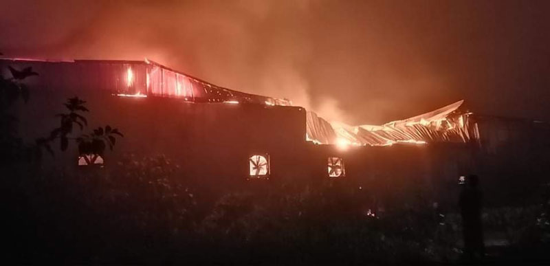 Fire at Feni food factory