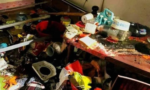 Gas cylinder explosion at residential building; 3 of a family injured
