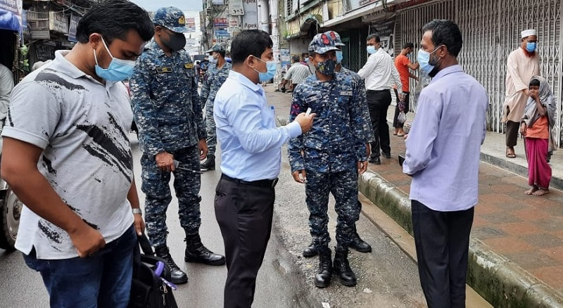 2,654 fined, jailed for breaking lockdown rules in Bhola