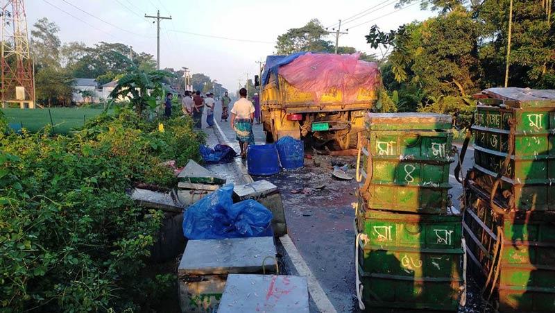 Three killed in Netrakona road accident