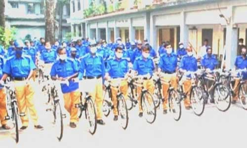 Village police members get bicycles in Chattogram